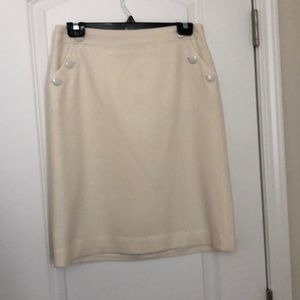J.Crew cream wool skirt